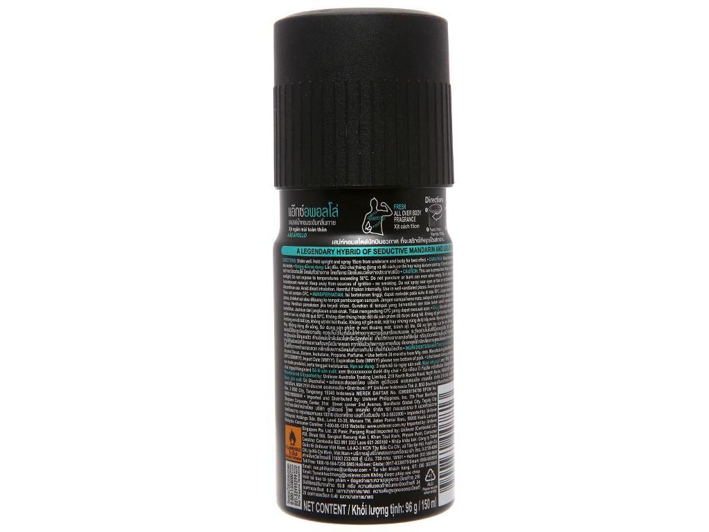Xịt khử mùi AXE Apollo chai 150ml 3