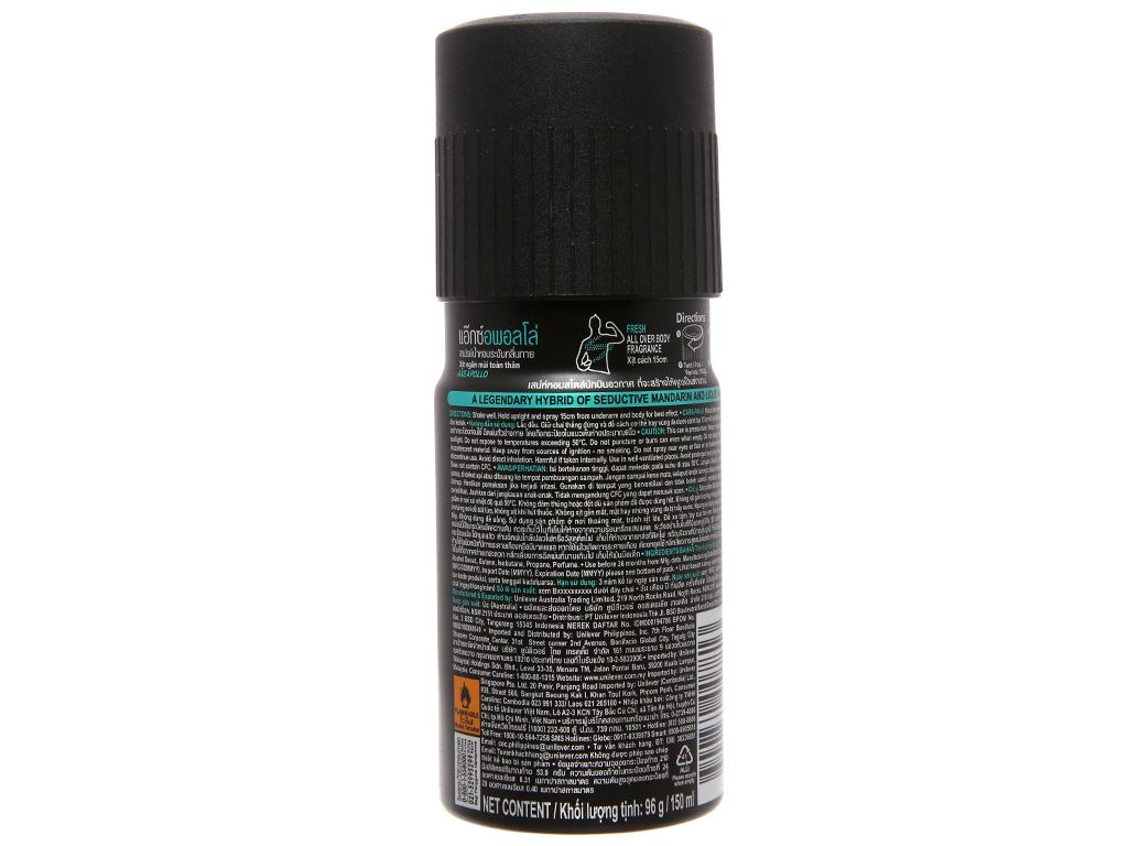 Xịt khử mùi AXE Apollo 150ml 3