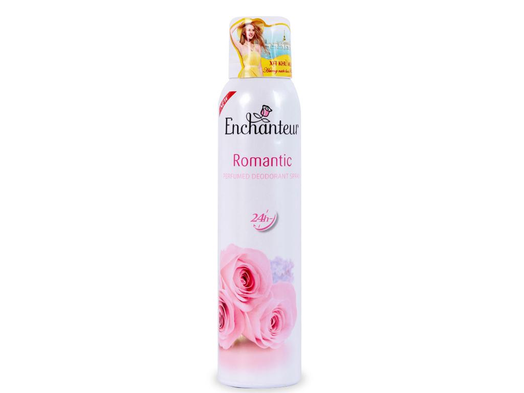 Xịt khử mùi hương nước hoa Enchanteur Romantic 150ml 1