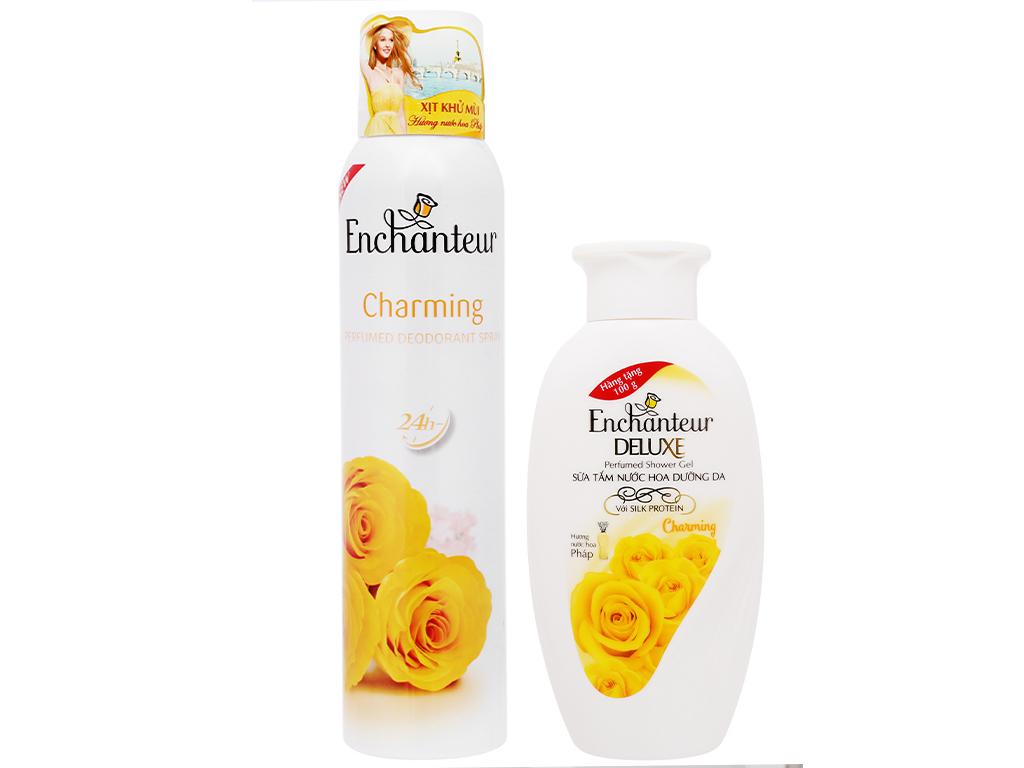 Xịt khử mùi Enchanteur Charming 150ml 1