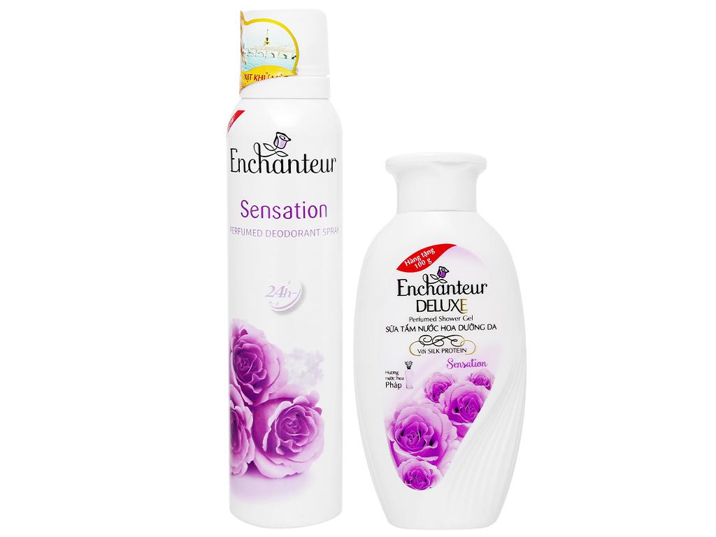 Xịt khử mùi Enchanteur Sensation 150ml 1
