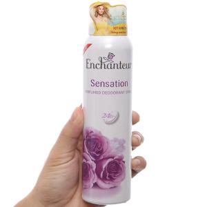 Xịt ngăn mùi hương nước hoa Enchanteur Sensation 150ml