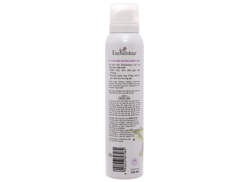 Xịt ngăn mùi hương nước hoa Enchanteur Sensation 150ml 3