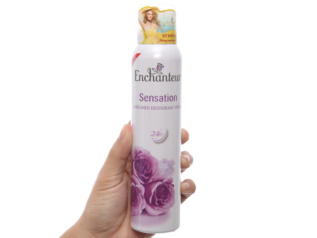 Xịt ngăn mùi hương nước hoa Enchanteur Sensation 150ml 4