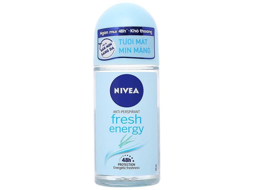 Lăn ngăn mùi Nivea tươi mát sức sống 50ml 2