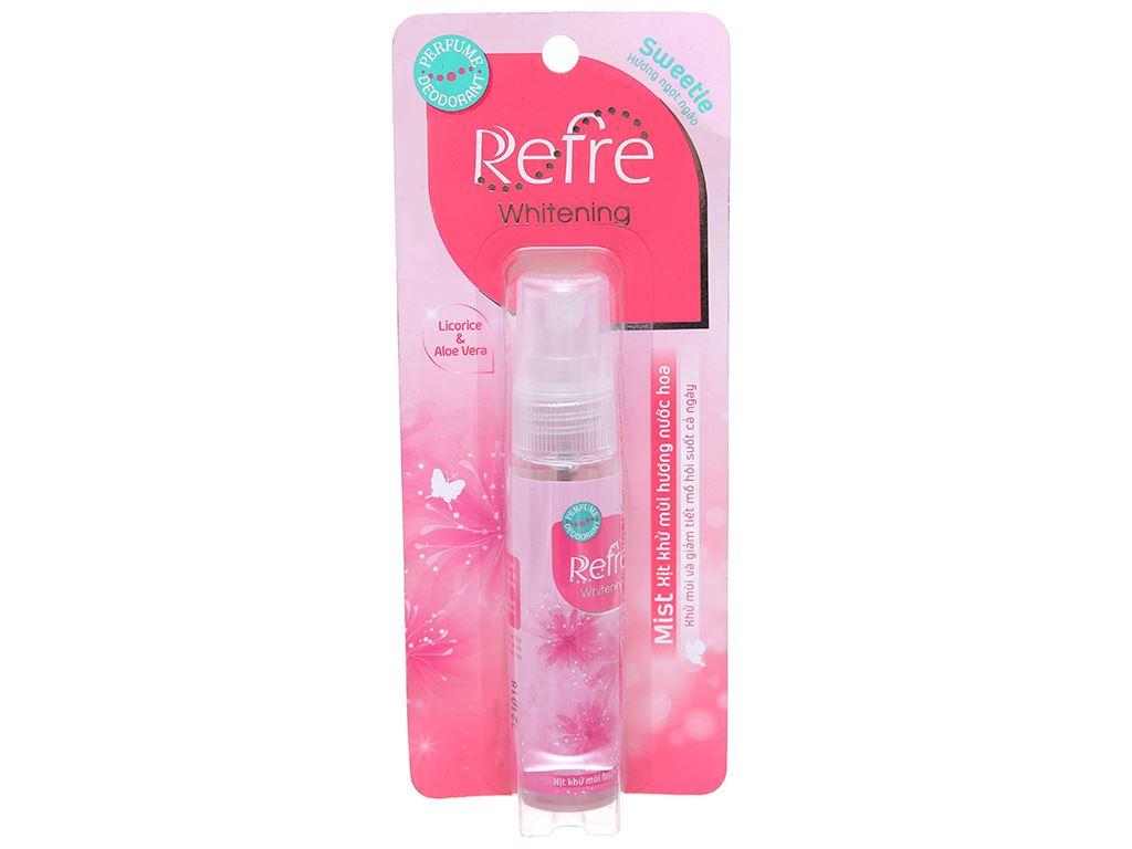 Xịt khử mùi Refre Whitening Sweetie 30ml 1