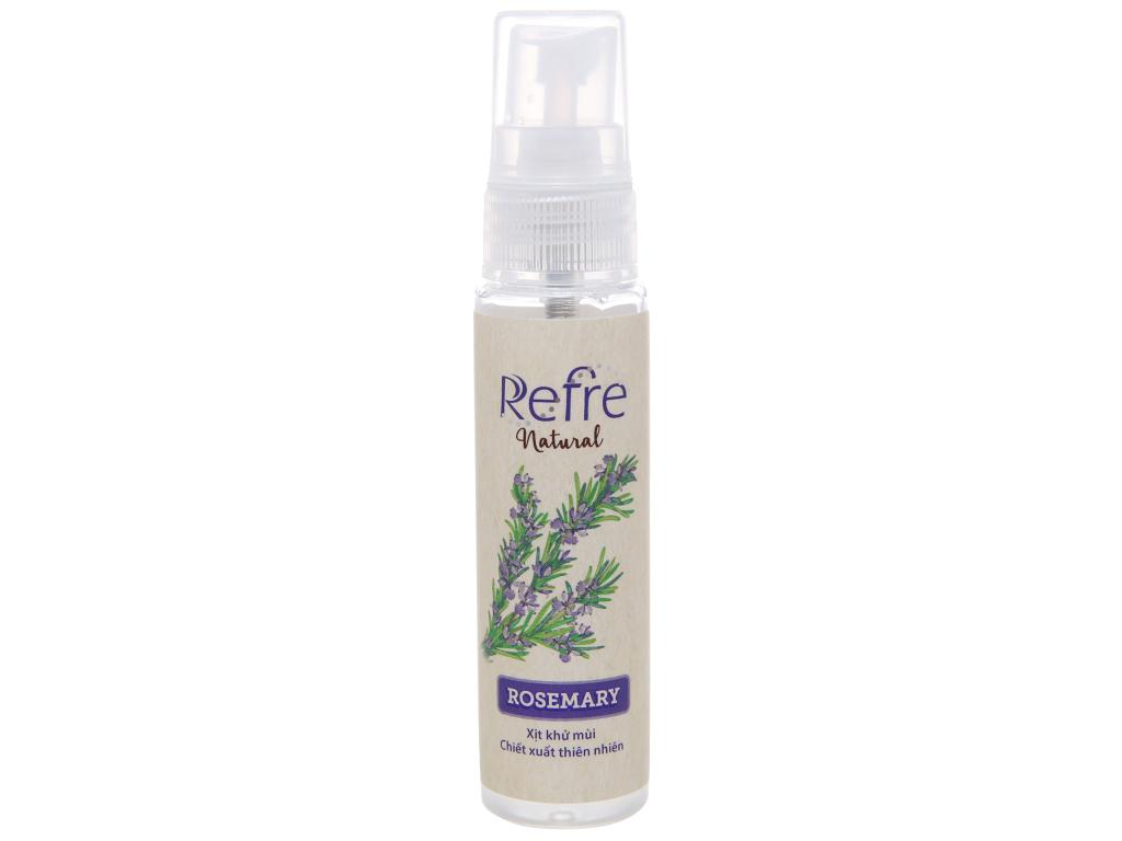 Xịt khử mùi Refre Natural hương thảo 30ml 1