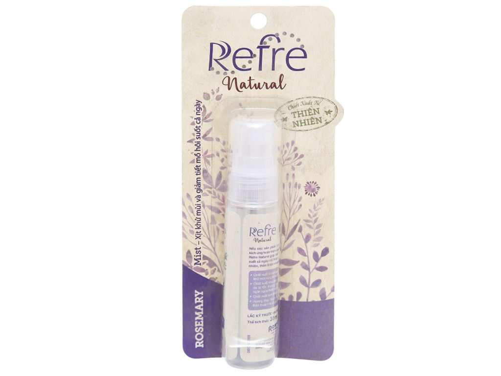 Xịt khử mùi Refre Natural hương thảo 30ml 3