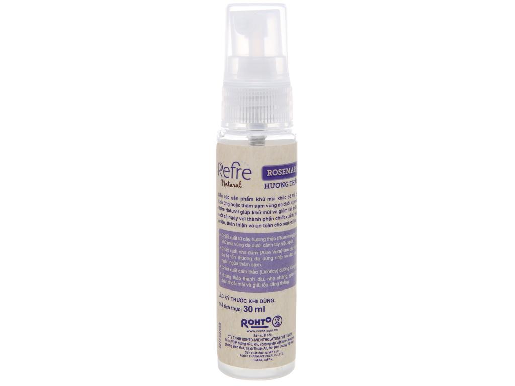 Xịt khử mùi Refre Natural hương thảo 30ml 4