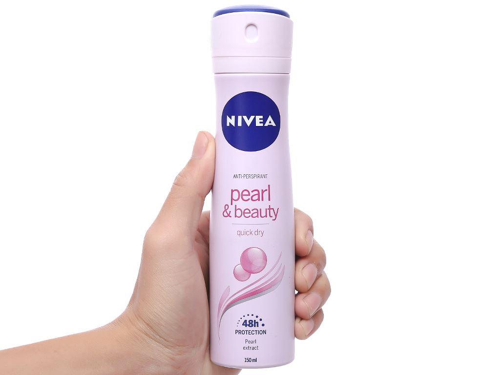 Xịt ngăn mùi Nivea Pearl & Beauty ngọc trai đẹp quyến rũ 150ml 5