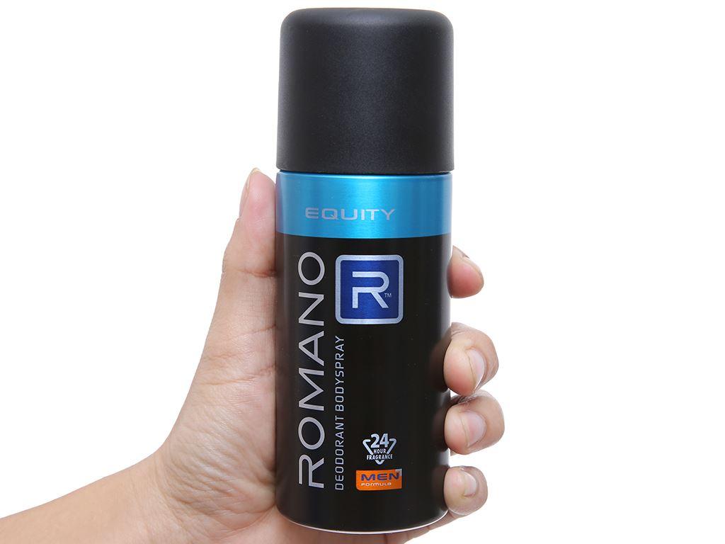 Xịt ngăn mùi toàn thân Romano Equity 150ml 3