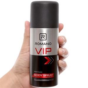 Xịt ngăn mùi toàn thân Romano VIP 150ml