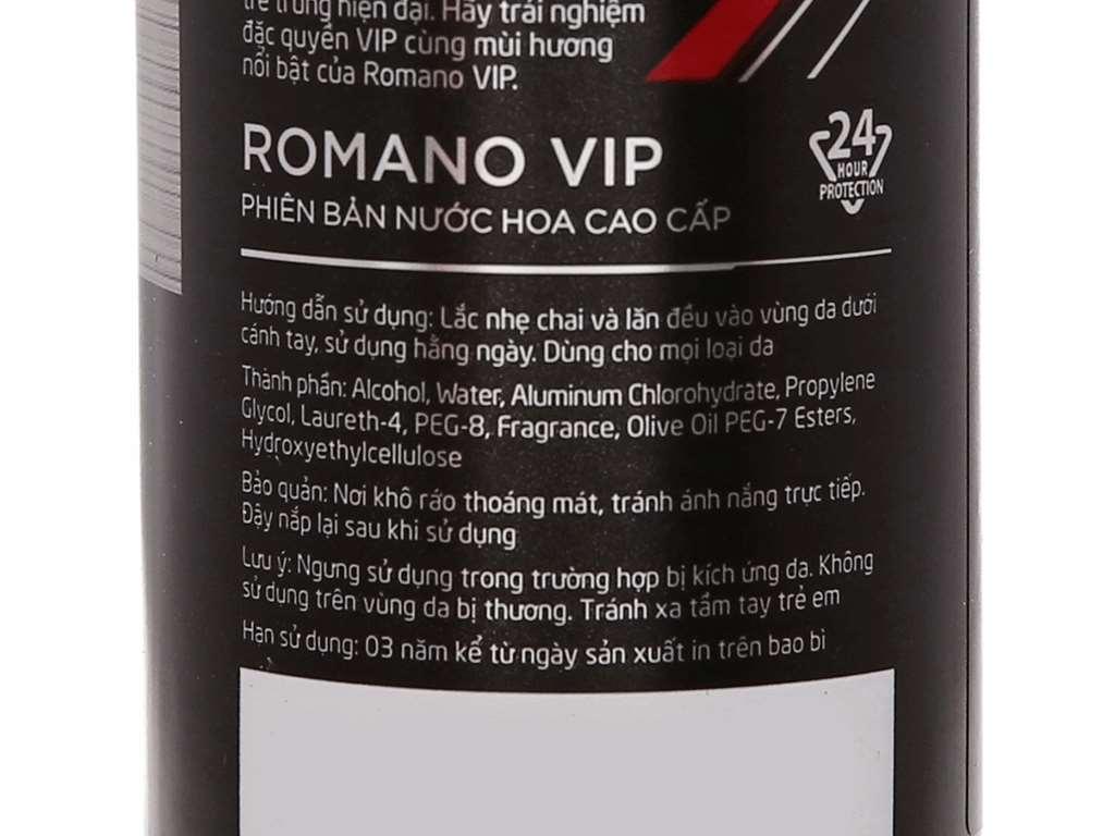 Lăn khử mùi Romano VIP 50ml 5