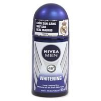 Lăn khử mùi Nivea Men Whitening Trắng da chai 50ml