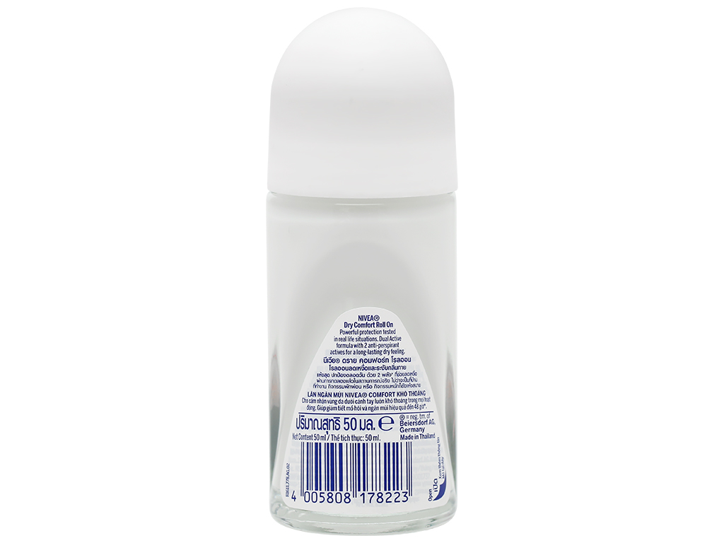 Lăn khử mùi Nivea Dry Comfort khô thoáng 50ml 4