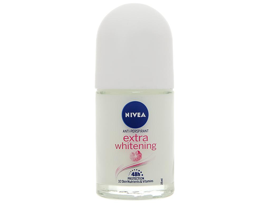 Lăn khử mùi Nivea trắng mịn mờ vết thâm 25ml 1