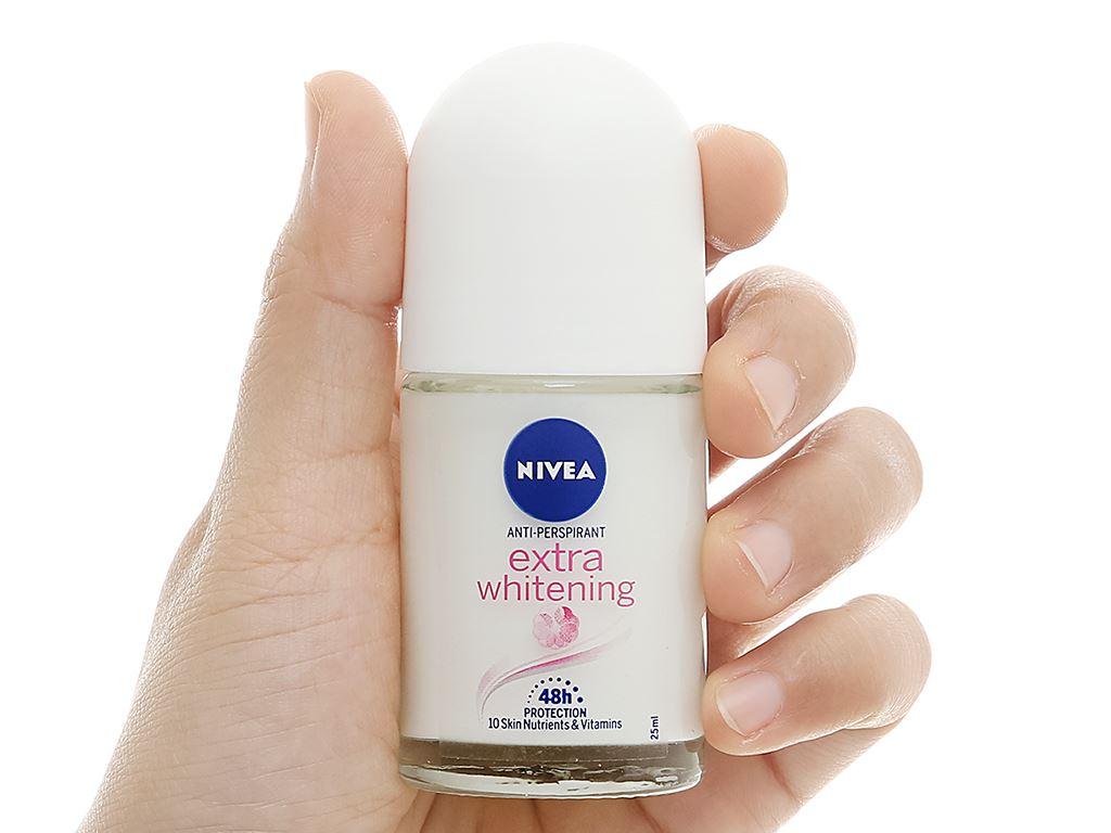 Lăn khử mùi Nivea trắng mịn mờ vết thâm 25ml 5