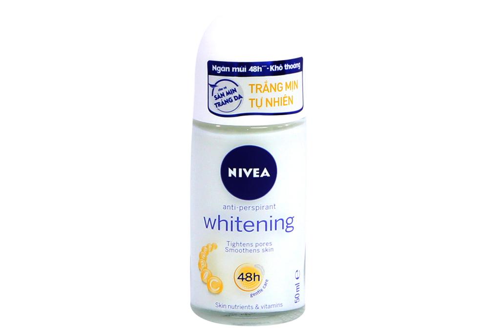 Lăn khử mùi Nivea trắng mịn tự nhiên 50ml