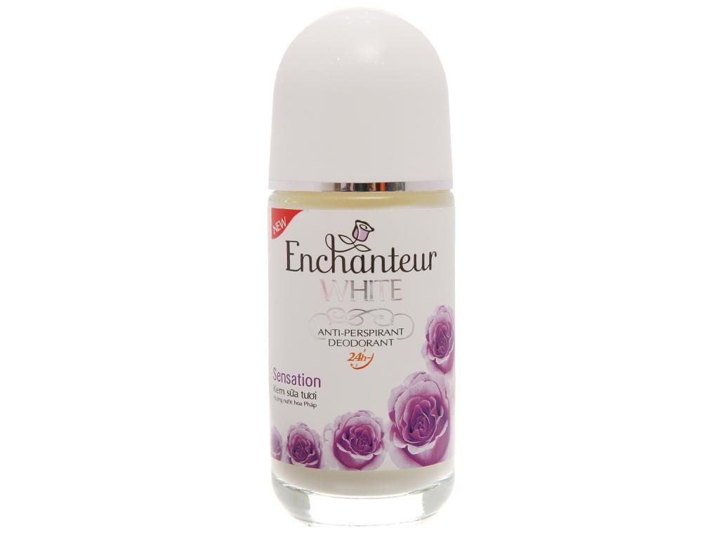 Lăn khử mùi Enchanteur White Sensation chai 50ml 2