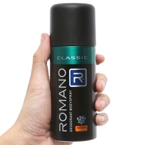 Xịt ngăn mùi toàn thân Romano Classic 150ml