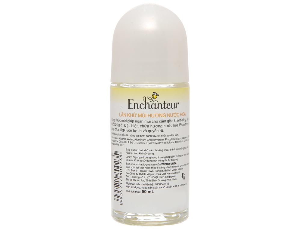 Lăn khử mùi Enchanteur Deluxe Charming hương nước hoa chai 50ml 3