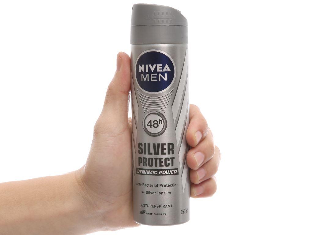 Xịt khử mùi Nivea Men Silver Protect chai 150ml 5