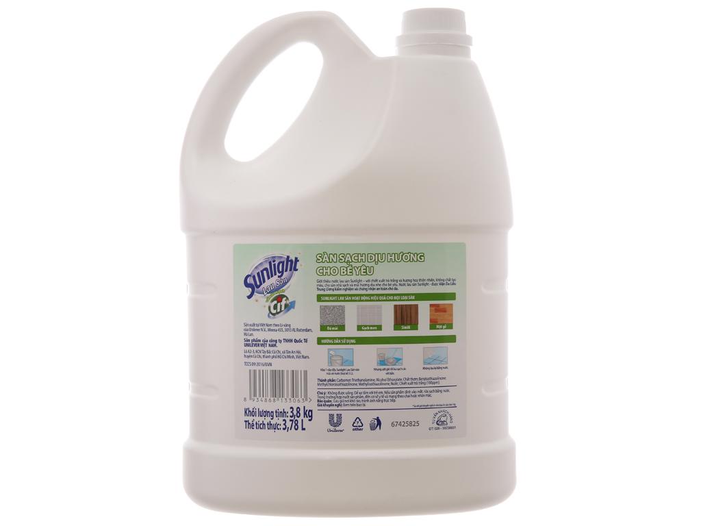 Nước lau sàn Sunlight Cif hương hoa thiên nhiên 3.8kg 3