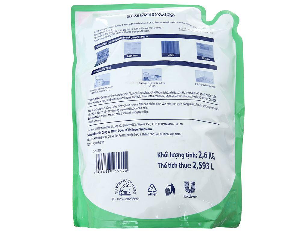 Nước lau sàn Sunlight Cif hương Hoa Hạ 2.6kg 3