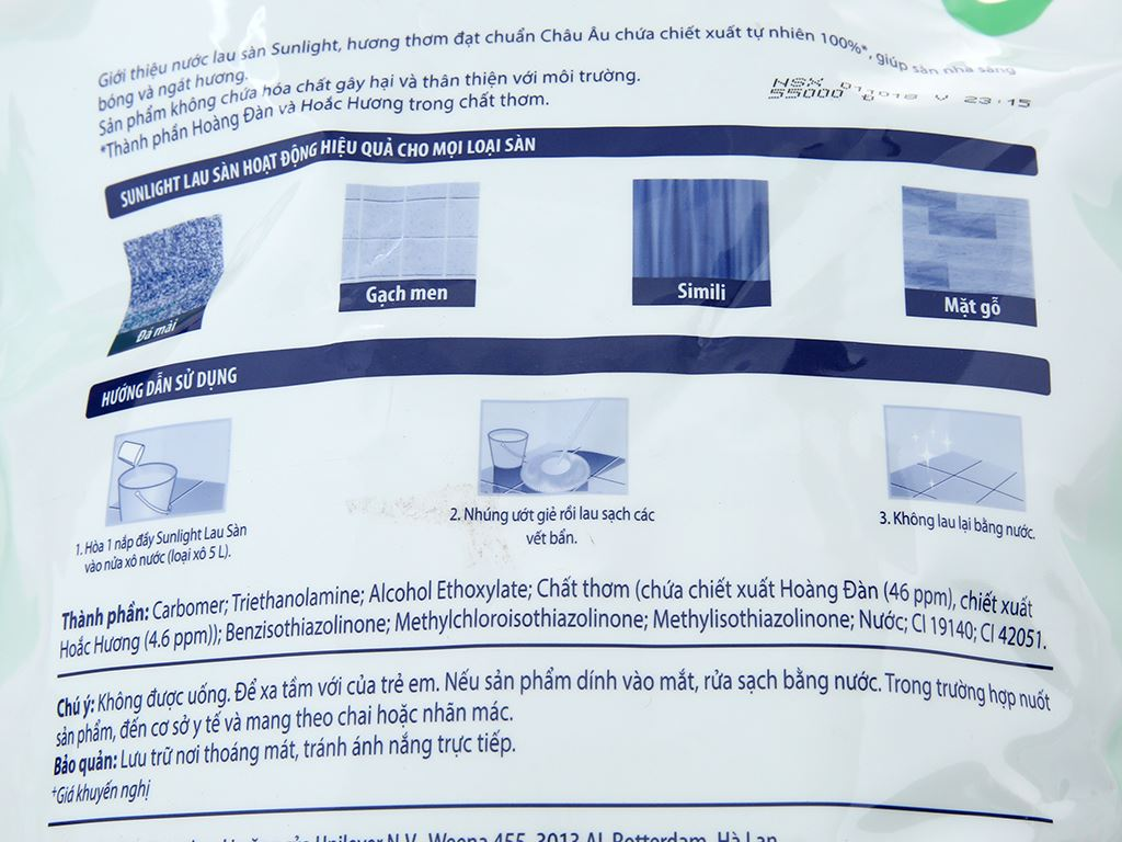 Nước lau sàn Sunlight Cif hương Hoa Hạ 2.6kg 4