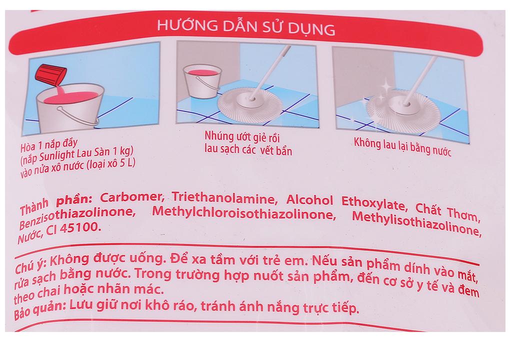 Nước lau sàn Sunlight hương Ly Ly Nhài tây túi 2.6kg-3