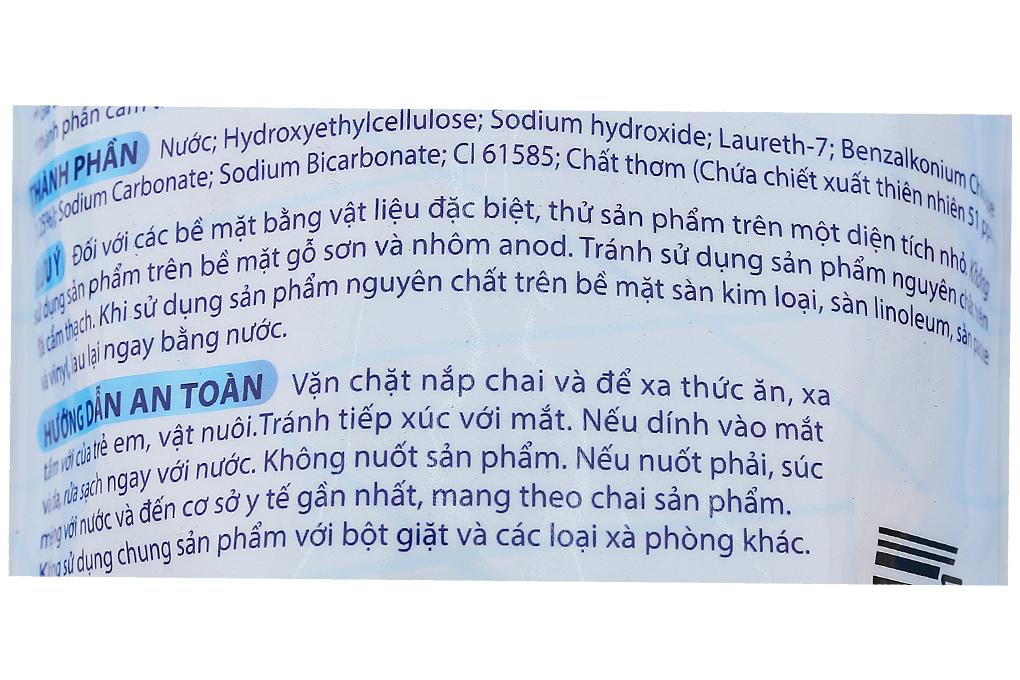 Nước lau sàn Glorix hương Biển xanh túi 950ml-3