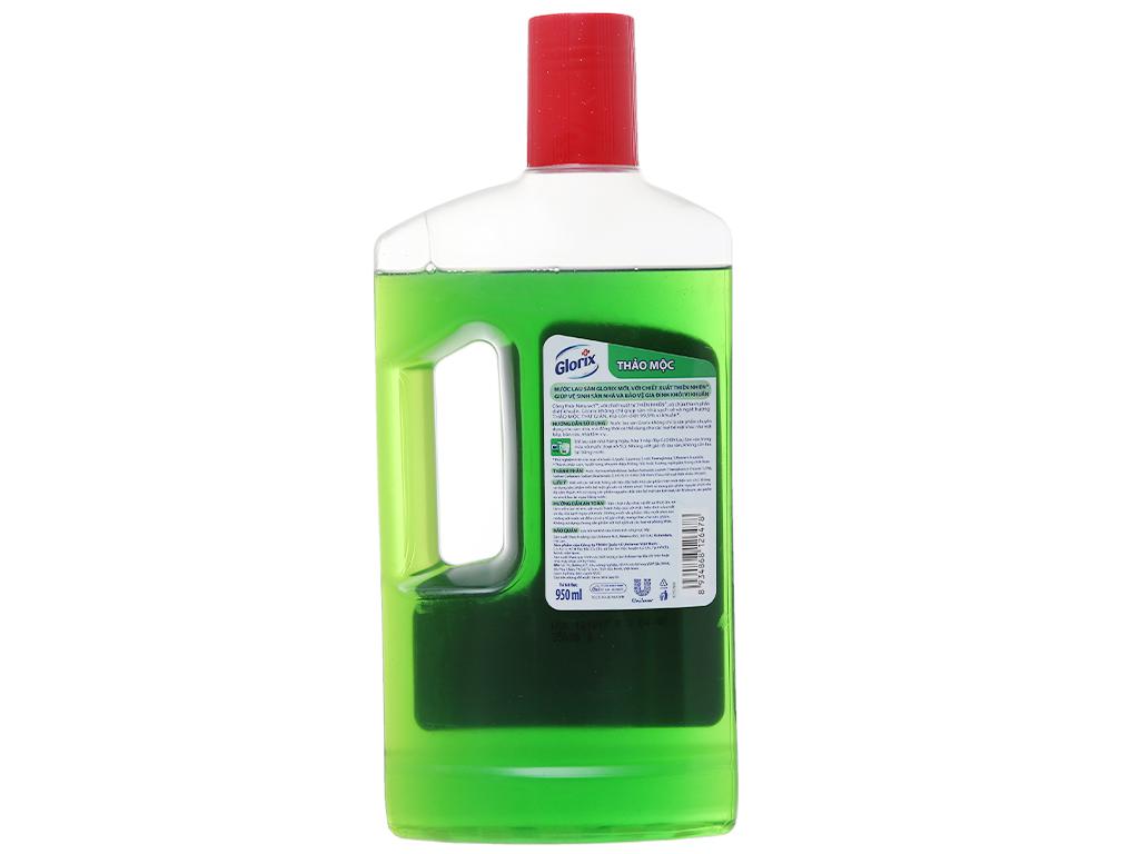 Nước lau sàn Glorix Diệt 99% vi khuẩn hương Thảo mộc 950ml 3