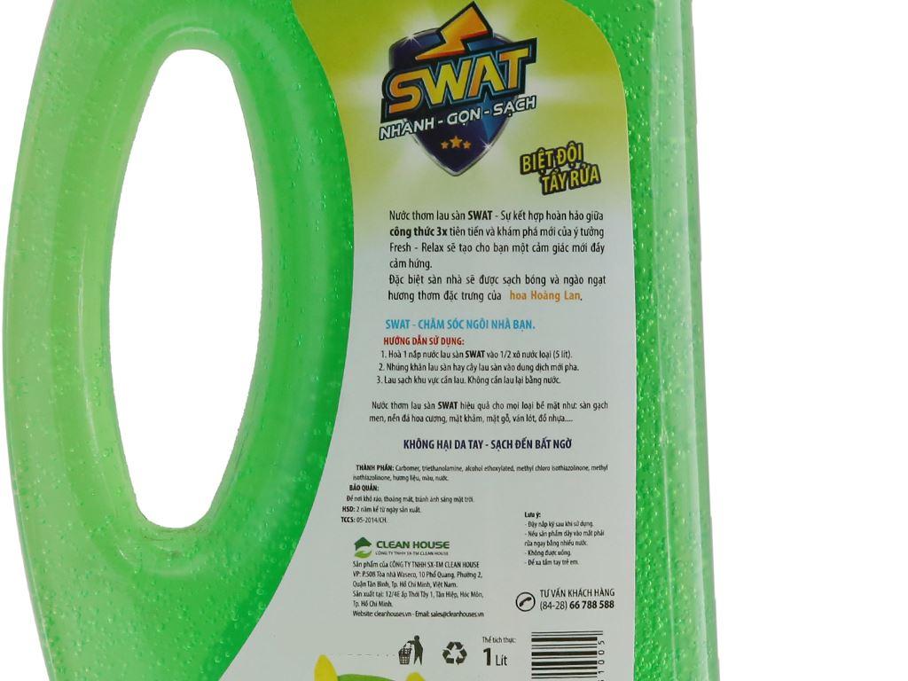 Nước lau sàn Swat hương hoa Hoàng Lan 1L 4