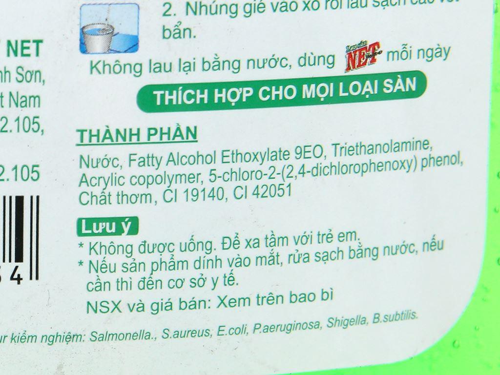 Nước lau sàn NET Extra chai 1kg 3