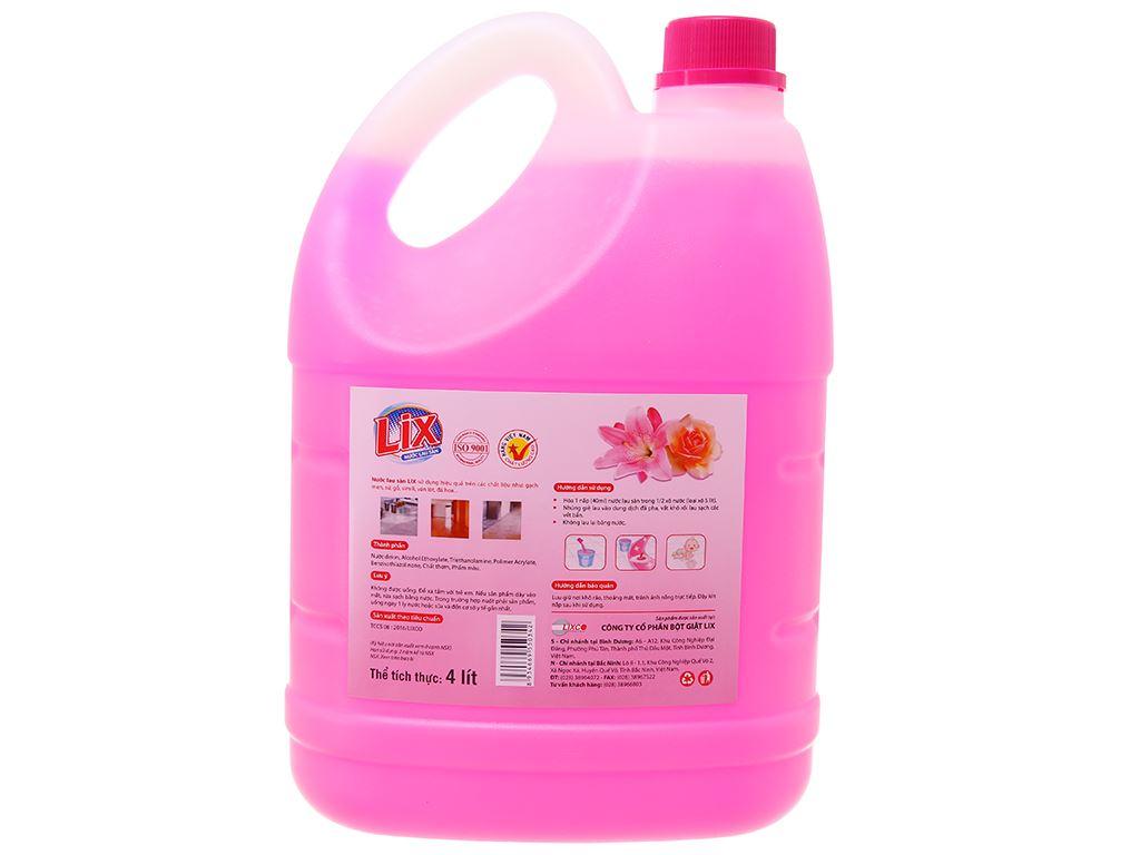 Nước lau sàn Lix hoa lily & hoa hồng 4L 3