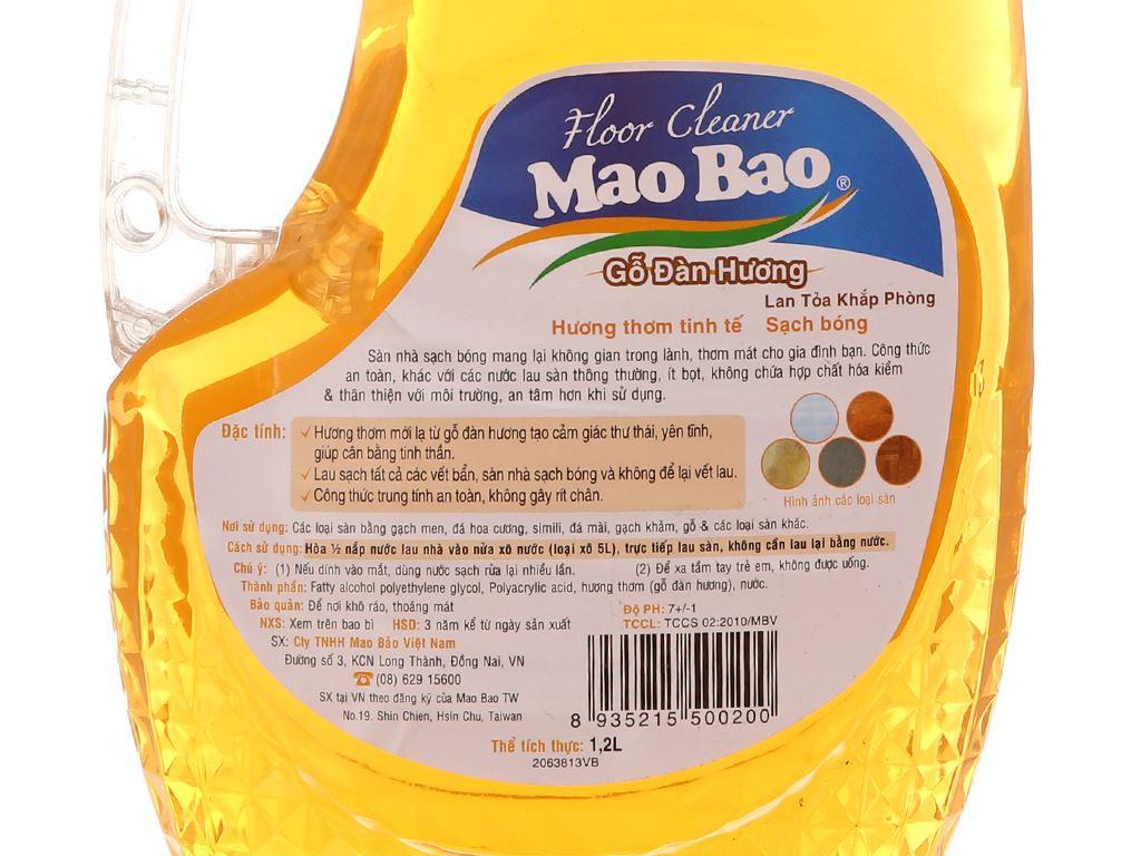 Nước lau sàn Mao Bao gỗ Đàn Hương 1.2L 4