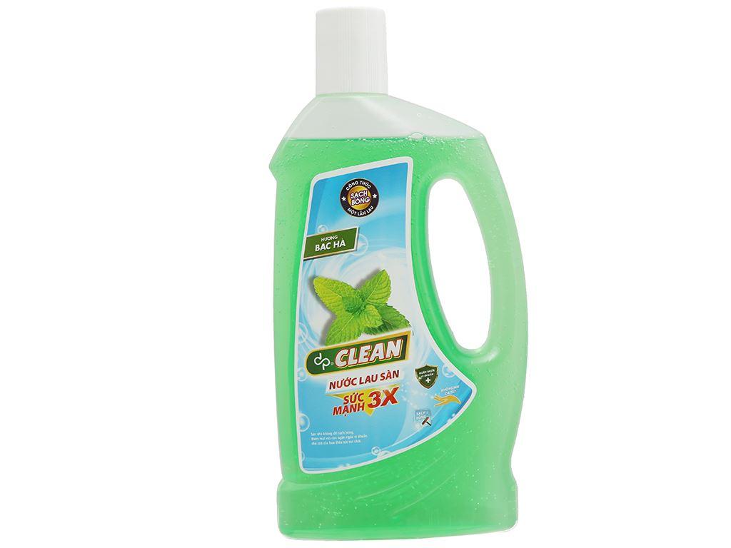 Nước lau sàn dp CLEAN hương bạc hà chai 1 lít 2