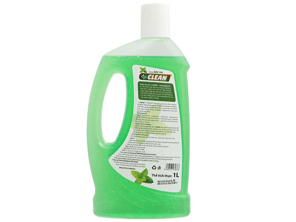 Nước lau sàn dp CLEAN hương bạc hà chai 1 lít 3
