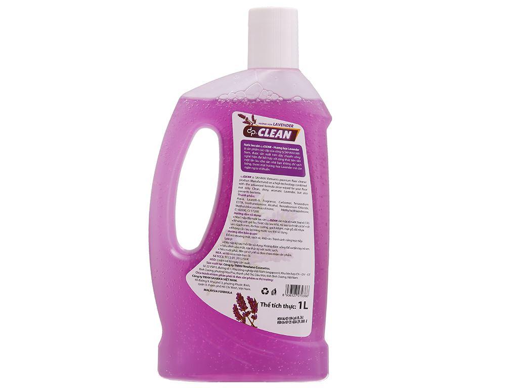 Nước lau sàn dp CLEAN hương Lavender 1L 3