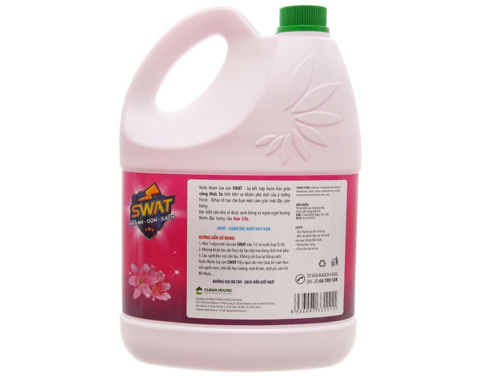 Nước lau sàn Swat hương hoa lily can 4kg 2