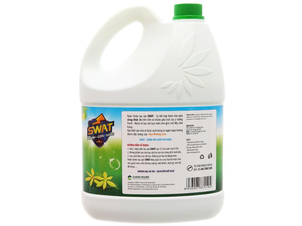 Nước lau sàn Swat hương hoa hoàng lan can 4kg 2