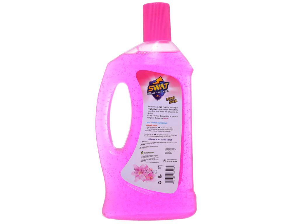 Nước lau sàn Swat hương hoa lily chai 1 lít 2