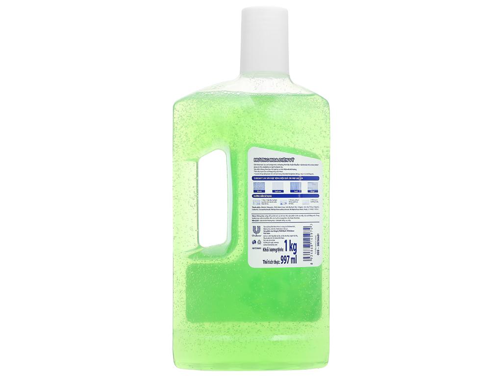 Nước lau sàn Sunlight hương hoa diên vỹ chai 1kg 2