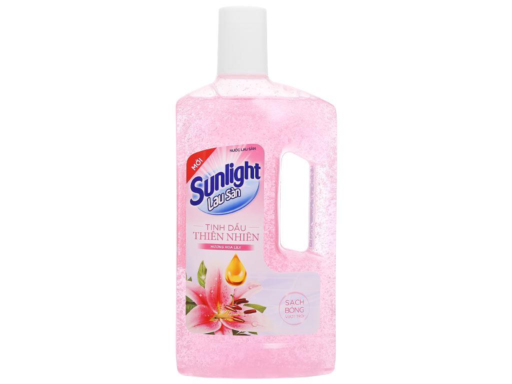 Nước lau sàn nhà Sunlight hương hoa lily chai 1kg 1