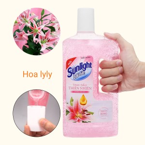 Nước lau sàn nhà Sunlight hương hoa lily chai 1kg