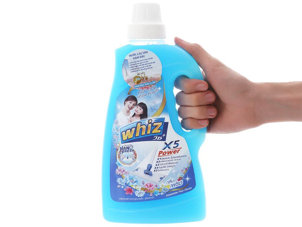 Nước lau sàn Whiz x5 power xanh chai 900ml 3