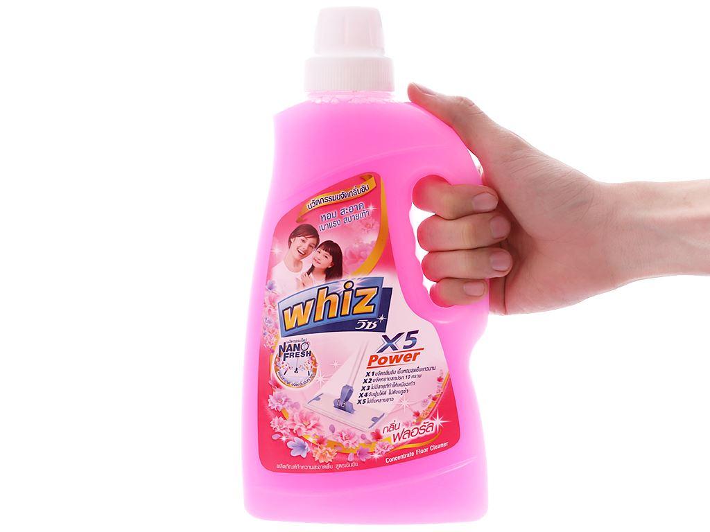 Nước lau sàn Whiz x5 power hồng chai 900ml 3