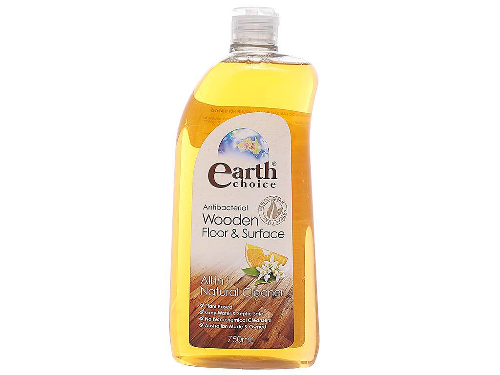 Nước lau sàn nhà Earth Choice lau sàn gỗ và nội thất chai 750ml 1