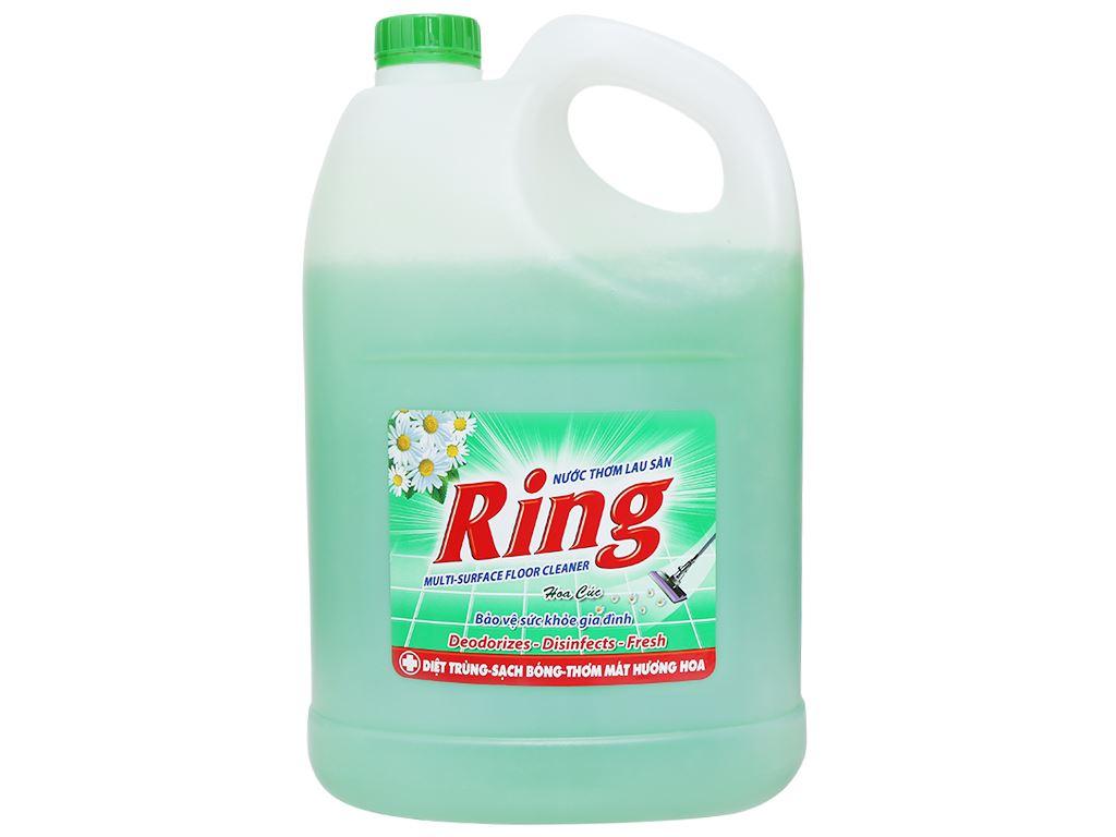 Nước lau sàn Ring hương hoa cúc can 3.8kg 1