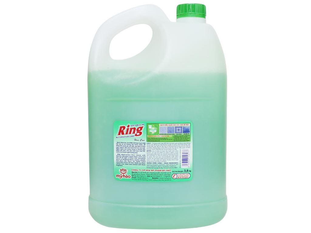 Nước lau sàn Ring hương hoa cúc can 3.8kg 2
